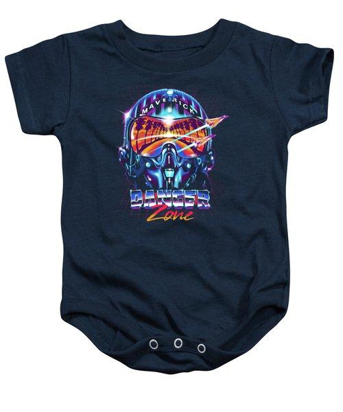Danger Zone / Top Gun / Maverick / Pilot Helmet / Pop Culture / 1980s Movie / 80s Baby Onesie