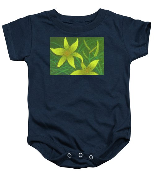 Day Lilies Baby Onesie