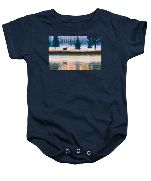 Deer Morning Baby Onesie