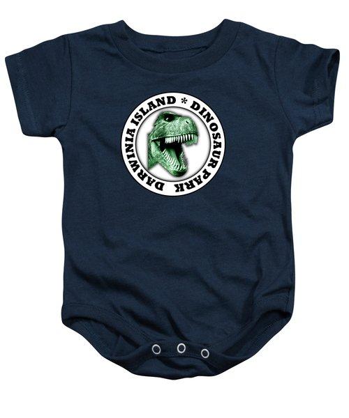 Dinosaur Park Baby Onesie by Gaspar Avila