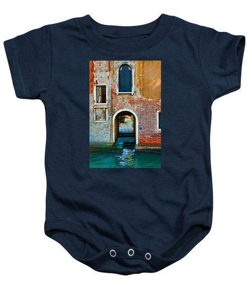 Dock And Windows Baby Onesie