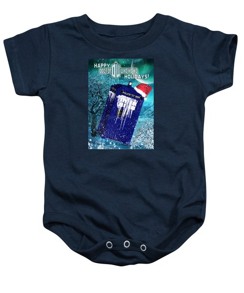 Doctor Who Tardis Holiday Card Baby Onesie