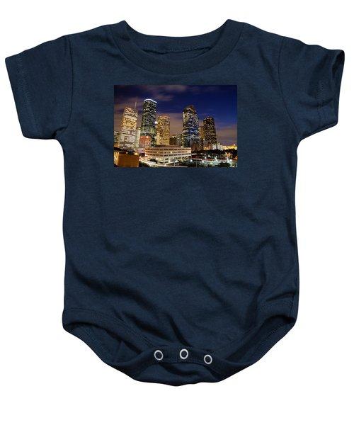 Downtown Houston At Night Baby Onesie