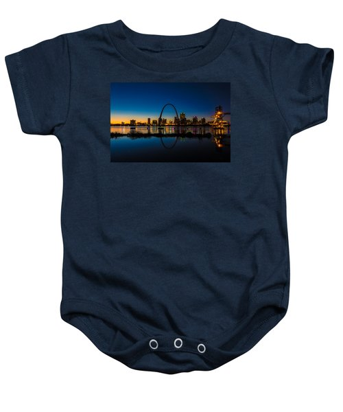 Downtown St. Louis And The Gateway Arch Baby Onesie
