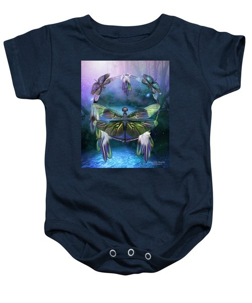 Dream Catcher - Spirit Of The Dragonfly Baby Onesie
