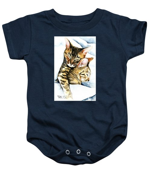 Dreamland - Bengal And Savannah Cat Painting Baby Onesie
