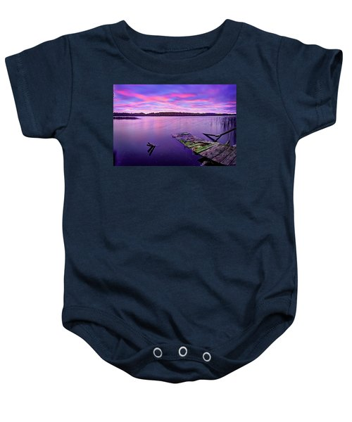 Dreamy Sunrise Baby Onesie