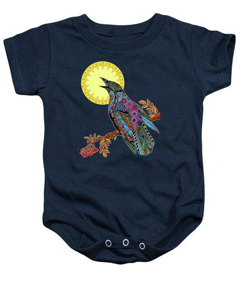 Electric Crow Baby Onesie by Tammy Wetzel