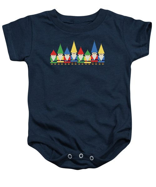 Elves On Blue Baby Onesie