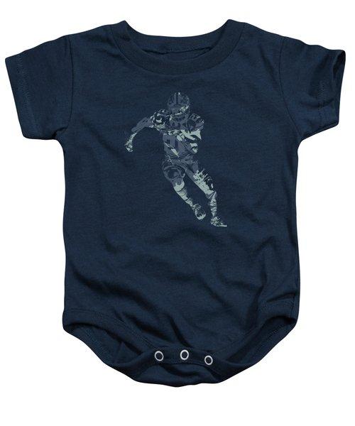 Ezekiel Elliott Cowboys Pixel Art T Shirt Baby Onesie