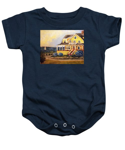 Falmouth Heights View Of Vineyard  Baby Onesie