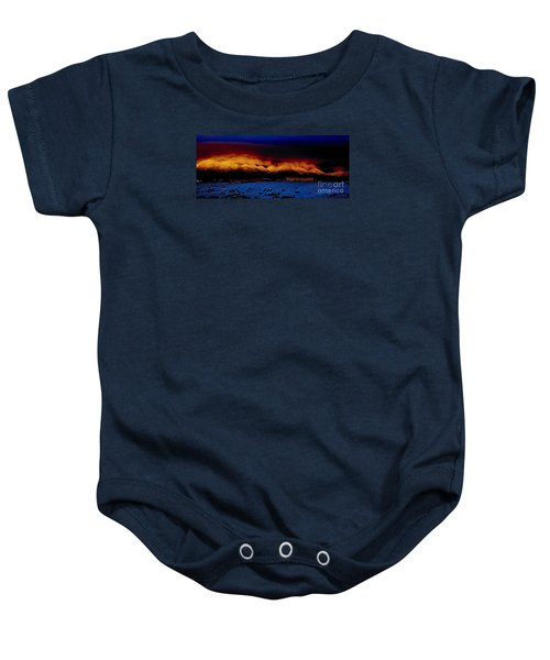 Fire On The Mountain  Baby Onesie