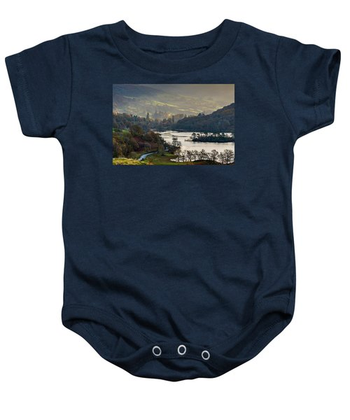First Light Over Rydal Water In The Lake District Baby Onesie