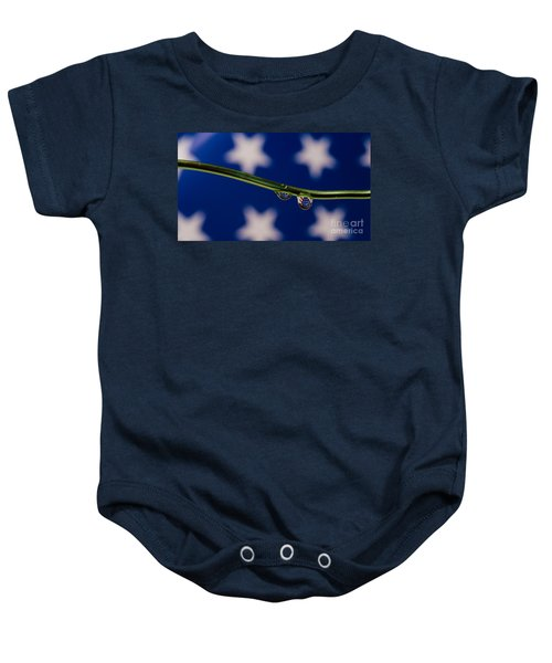 flag on a Wire Baby Onesie