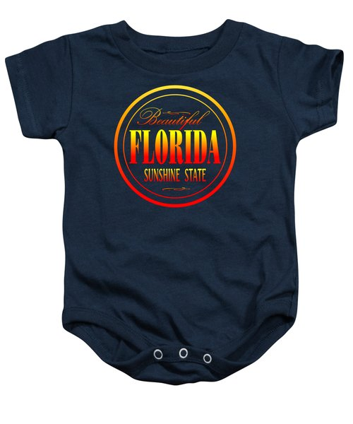 Florida Sunshine State Design Baby Onesie