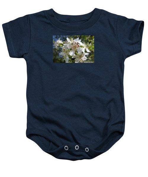 Flowering Of White Flowers 2 Baby Onesie