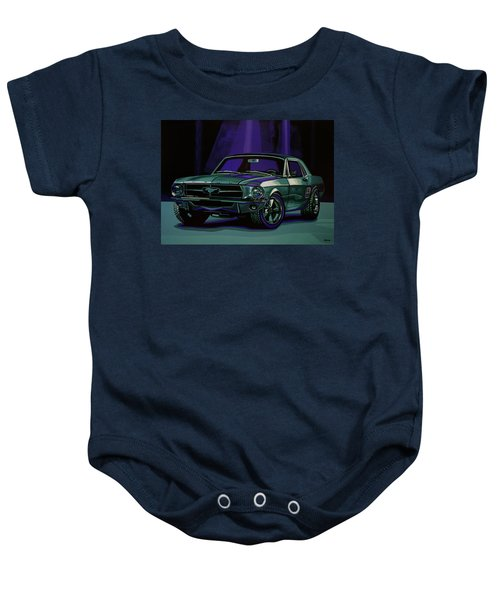 Ford Mustang 1967 Painting Baby Onesie