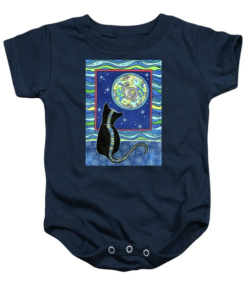 Pisces Cat Zodiac - Full Moon Baby Onesie