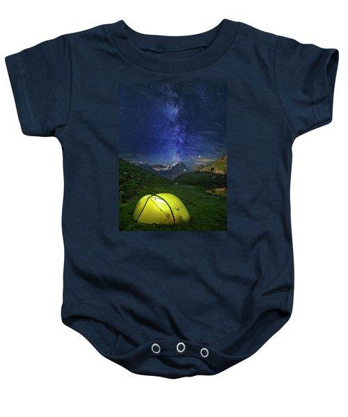 Galactic Eruption Baby Onesie