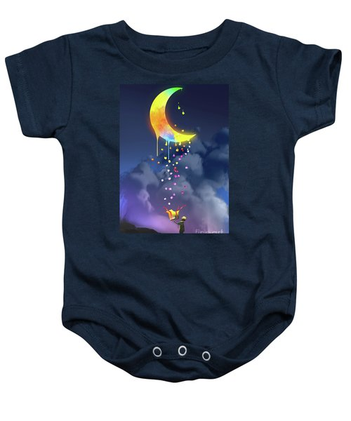 Baby Onesie featuring the painting Gifts From The Moon by Tithi Luadthong