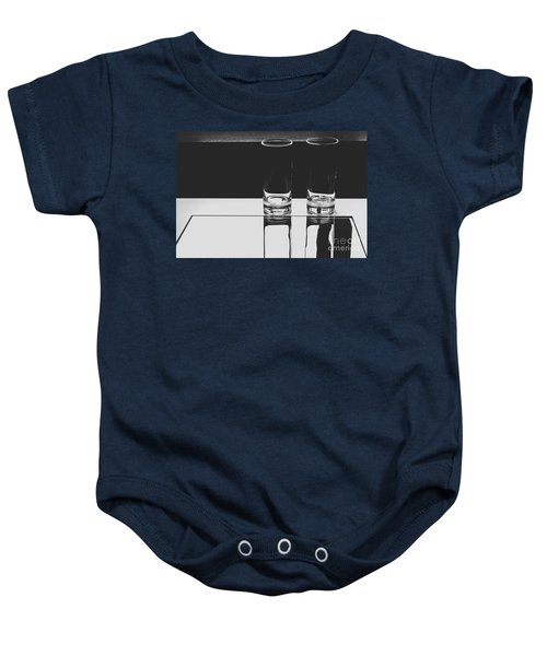 Glasses On A Table Bw Baby Onesie