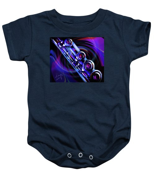 Glassical Flute Baby Onesie