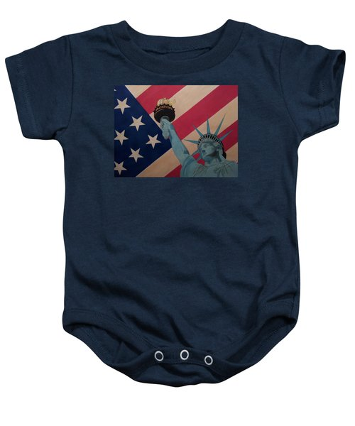 God Bless The Usa Baby Onesie