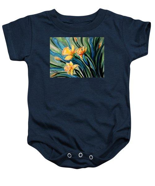 Golden Daffodils Baby Onesie