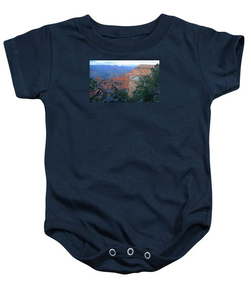 Grand Canyon South Rim - Red Hues At Sunset Baby Onesie