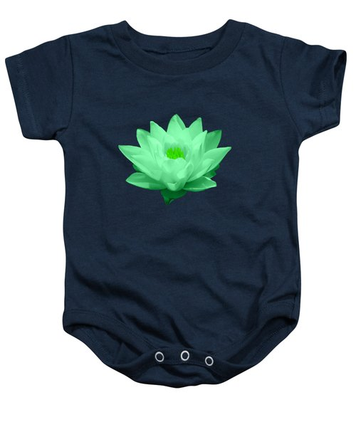 Green Lily Blossom Baby Onesie