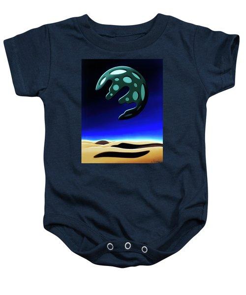 Green Moon Rising Baby Onesie