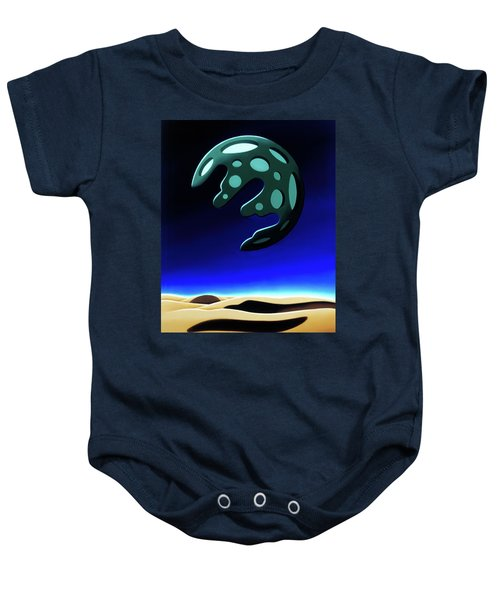 Green Moon Rising Baby Onesie