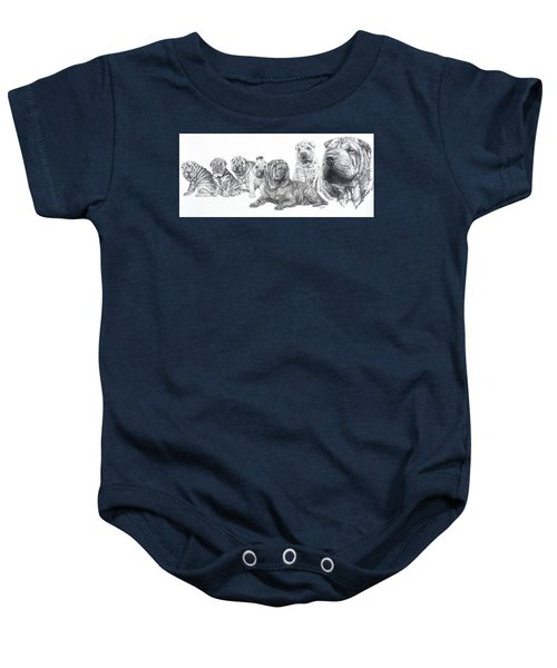 Mister Wrinkles And Family Baby Onesie