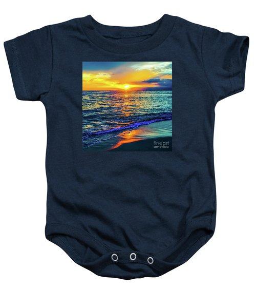 Hawaii Beach Sunset 149 Baby Onesie