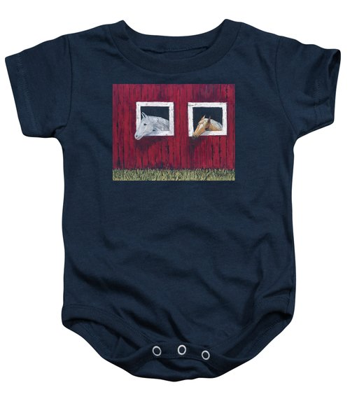 He And She Baby Onesie