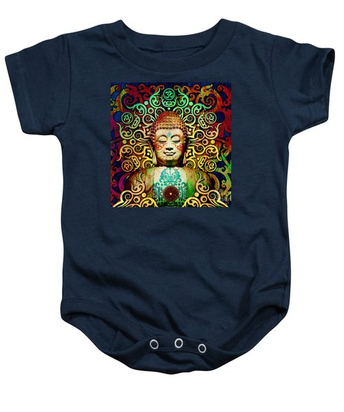 Heart Of Transcendence - Colorful Tribal Buddha Baby Onesie