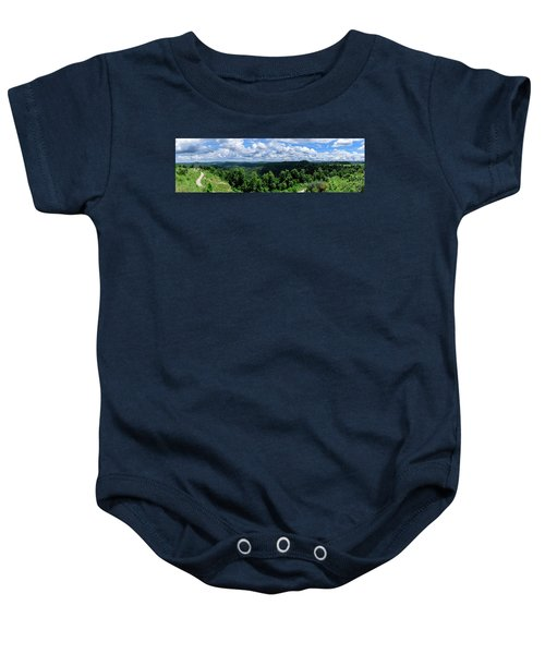 Hills And Clouds Baby Onesie