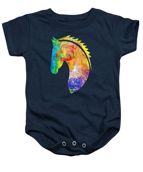 Horse Colorful Silhouette Baby Onesie