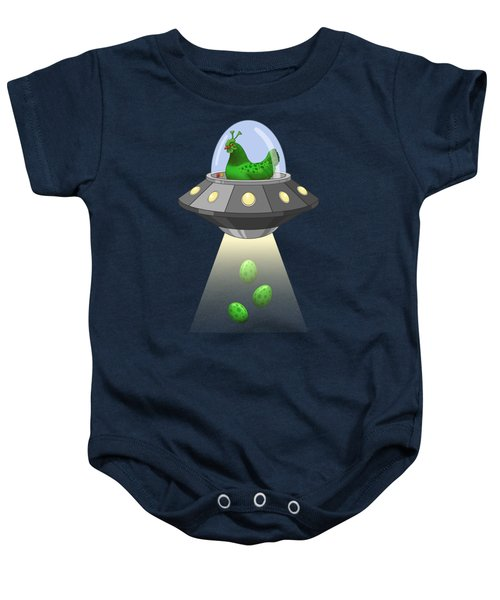 I Believe In Green Chicken Aliens Baby Onesie
