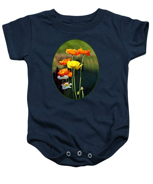 Iceland Poppies In The Sun Baby Onesie