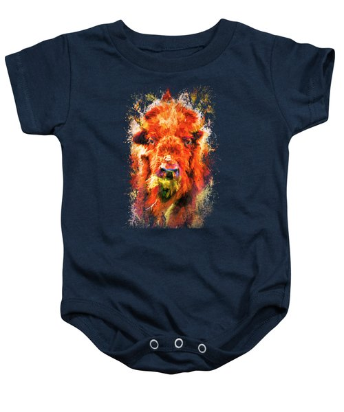 Jazzy Buffalo Colorful Animal Art By Jai Johnson Baby Onesie