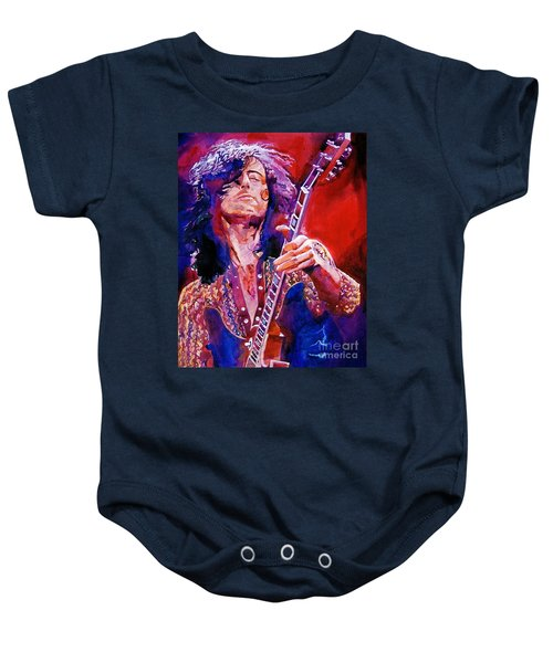 Jimmy Page Baby Onesie by David Lloyd Glover
