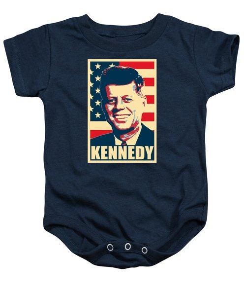 John F Kennedy American Propaganda Poster Art Baby Onesie
