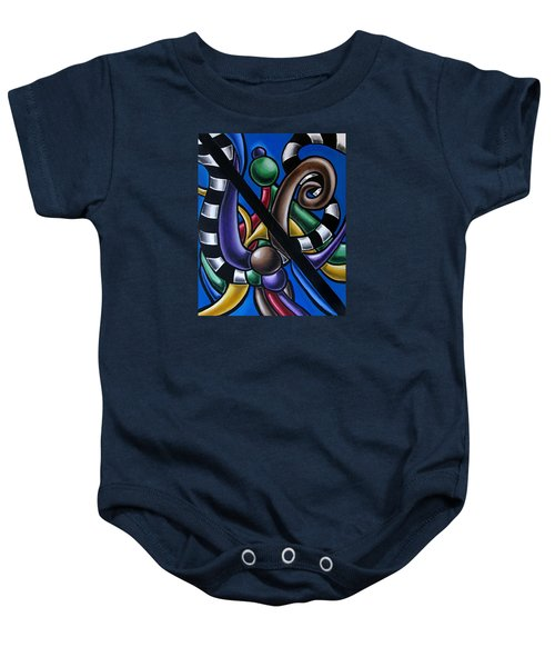 Original Colorful Abstract Art Painting - Multicolored Chromatic Artwork Baby Onesie