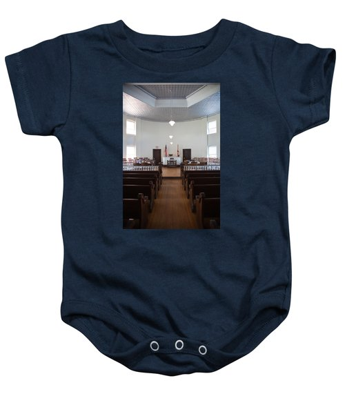 Jury Box In A Courthouse, Old Baby Onesie