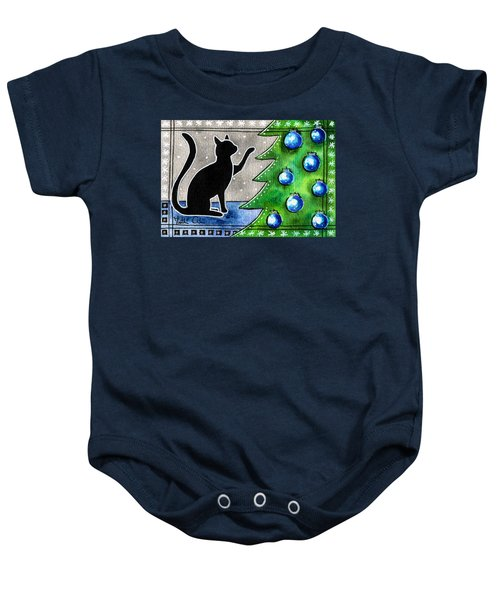 Just Counting Balls - Christmas Cat Baby Onesie