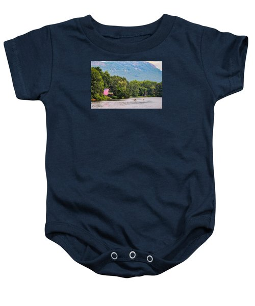 Kayaking On Nashawannuck Pond Easthampon Baby Onesie
