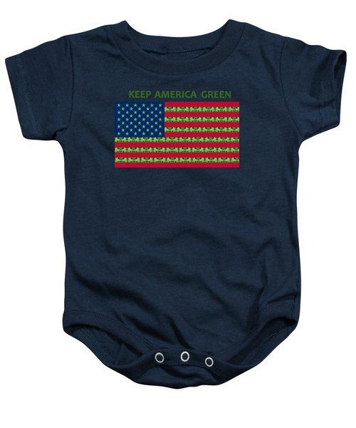 Keep America Green Usa Flag Baby Onesie