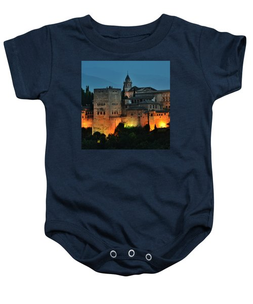 #laalhambra At Dusk - #ig_andalucia Baby Onesie