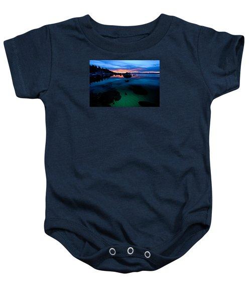 Lake Tahoe Clarity At Sundown Baby Onesie